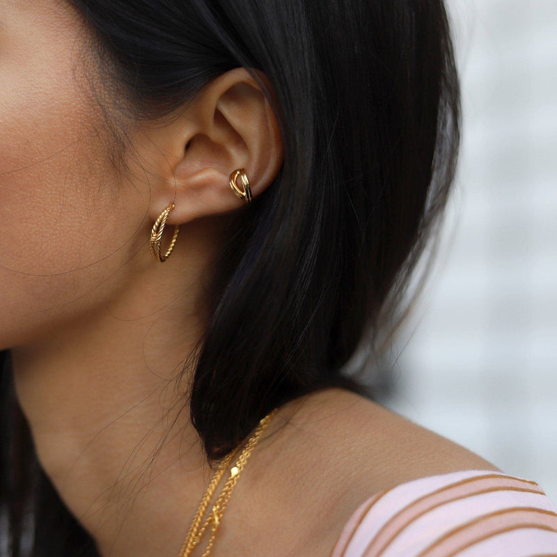 Gold Infini Ear Cuff Earrings Missoma