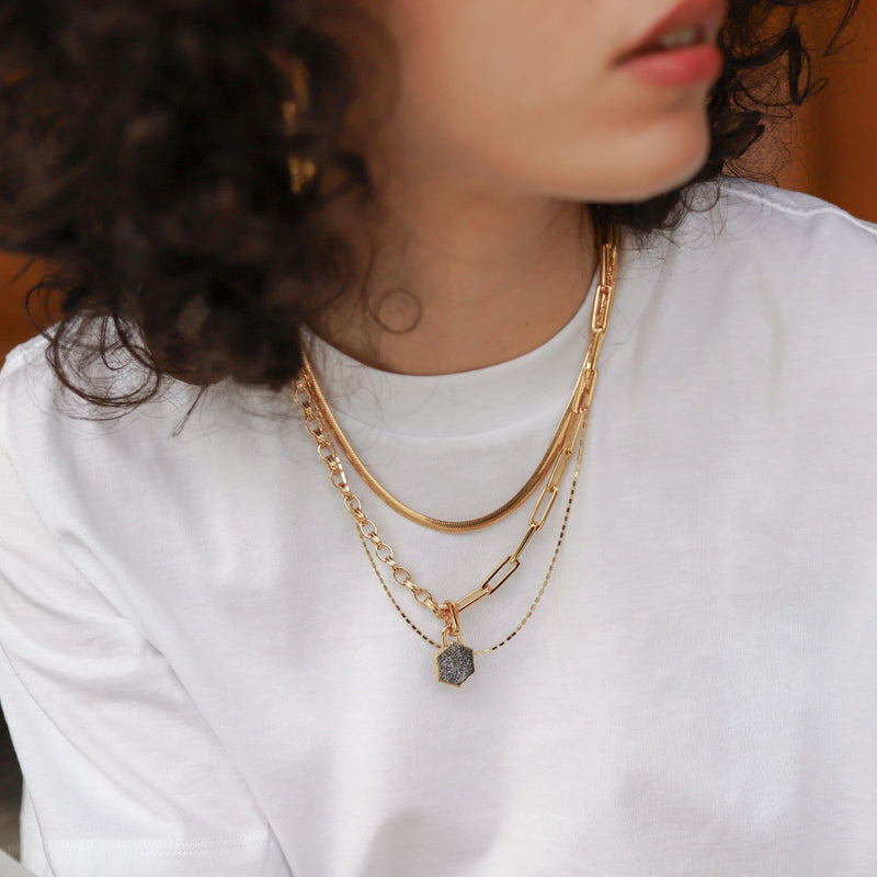 Gold Long Box Chain Necklace Necklaces Missoma
