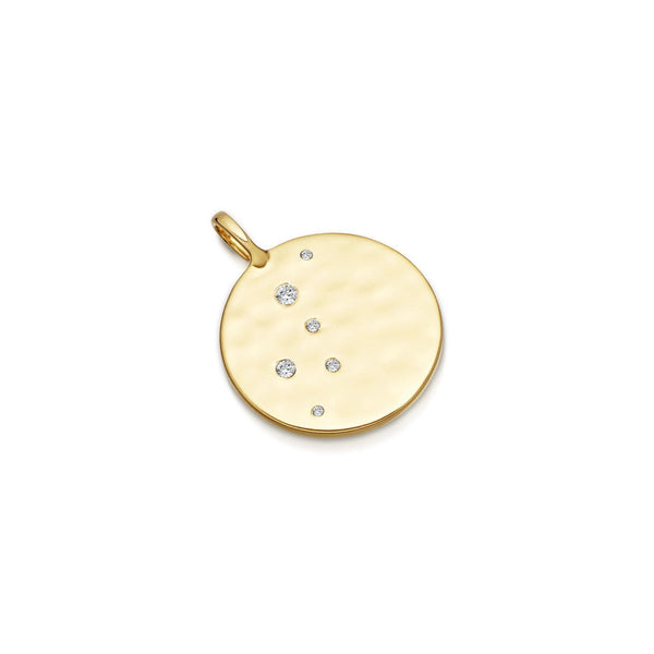 Gold Pave Hammered Disc Pendant Necklaces Missoma