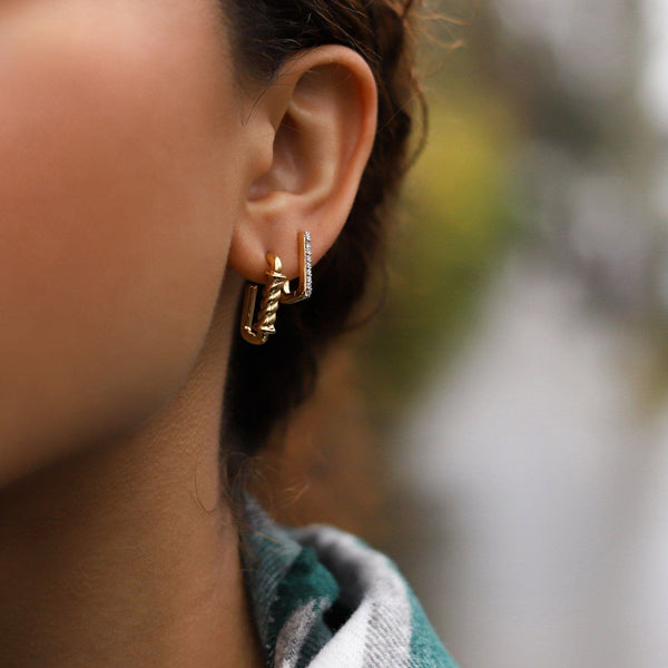Gold Reel Ovate Mini Hoops Earrings Missoma