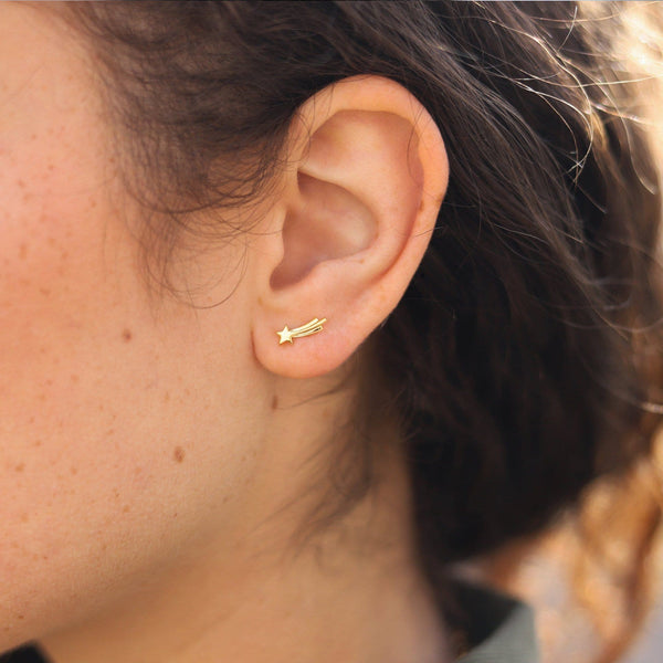 Gold Shooting Star Studs Earrings Missoma