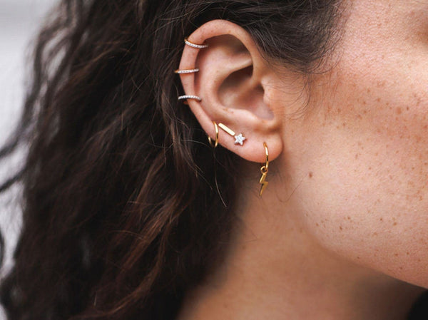 Gold Single Bar Stud Earrings Missoma