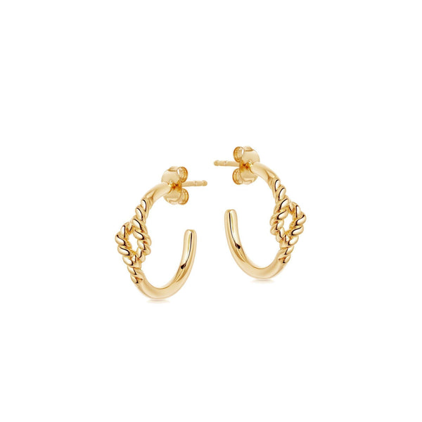 Gold Small Reel Twine Hoops Earrings Missoma