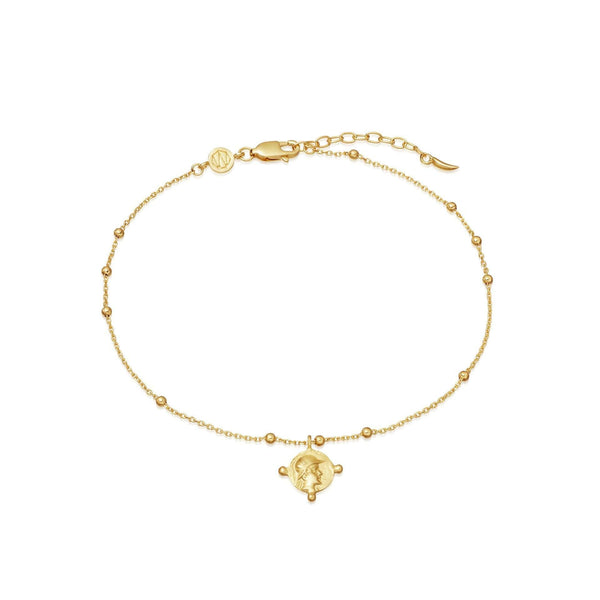 Lucy Williams Gold Beaded Coin Anklet Anklets Missoma
