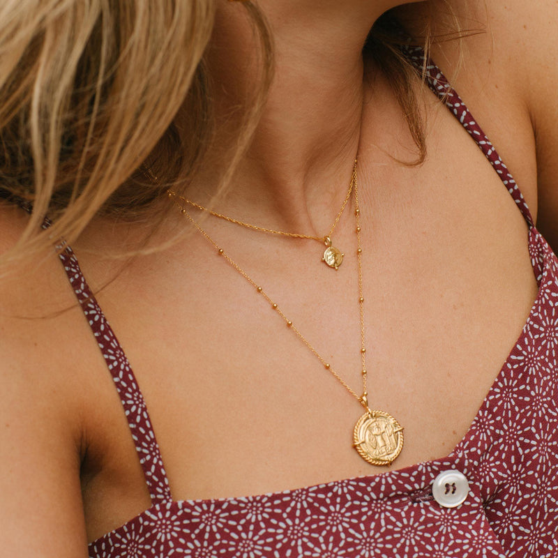 Lucy Williams Gold Mini Roman Coin Necklace Necklaces Missoma
