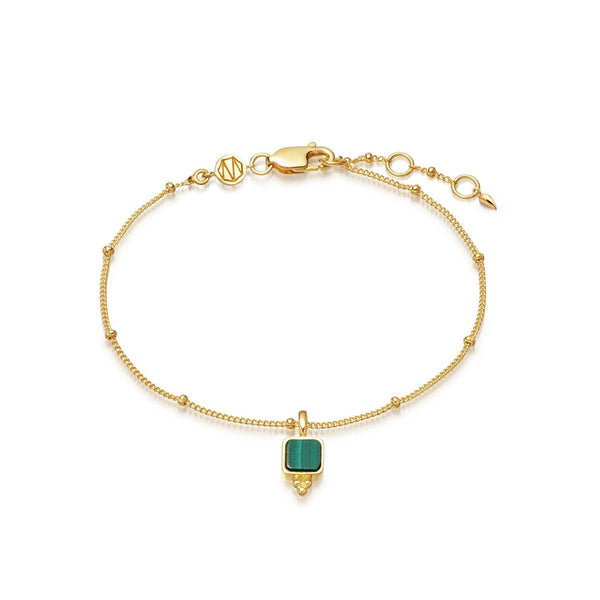 Lucy Williams Malachite Gold Bracelet Bracelets Missoma