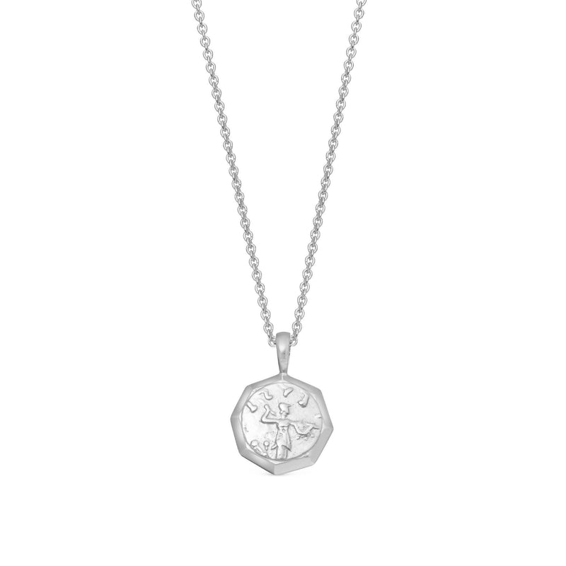 Mens Lucy Williams Silver Octagon Coin Necklace Necklaces Missoma