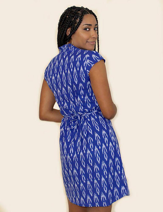 Cobalt Blue Button Dress