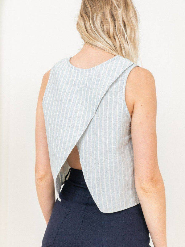 Stripe Open Back Tank - Consciously