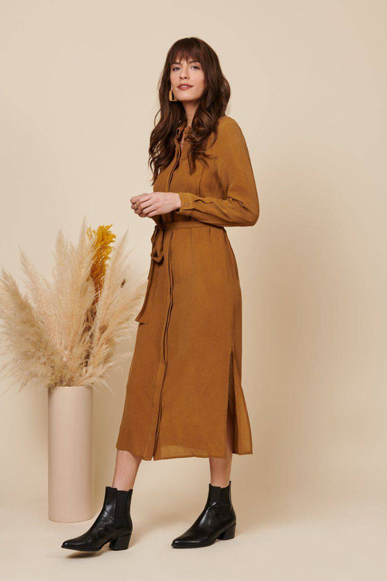Zoe Dress (Tan) Dress Whimsy + Row
