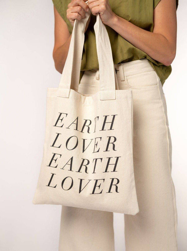Upcycled Graphic Tote (Earth Lover) Tote Laude The Label