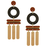 Wind Chime Earrings (Cocoa Bean) Earrings Scotchbonnet!
