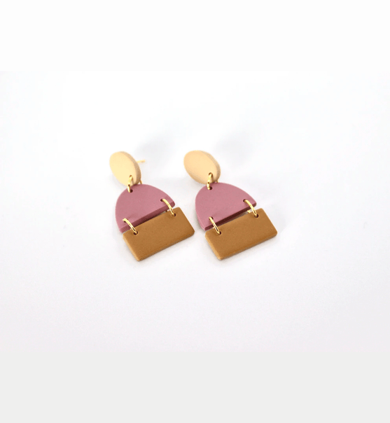 Oval Segments Earrings - Consciously