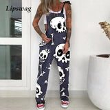 Fashion Latzhose Skull
