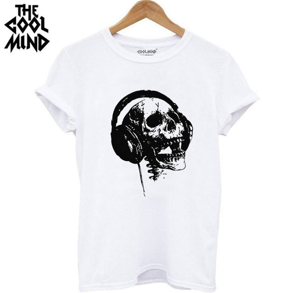 "Skull ""Phones"" Damen T-Shirt"