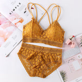 Seamless Bralette and Panty lace  set