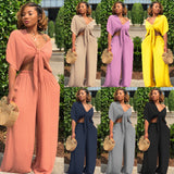 Loose Wide Leg Two Piece Set