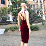 Maj Velvet Cross back Dress XD507