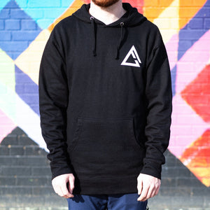 Open image in slideshow, fueled by choice. black hoodie front