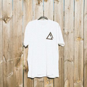 Open image in slideshow, fueled by choice. white chest logo t shirt