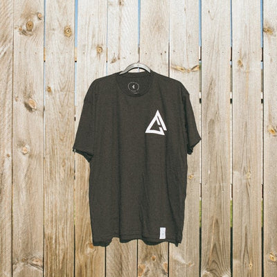 fueled by choice.™ black chest logo t-shirt