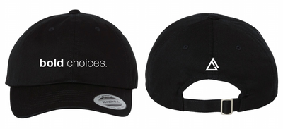 fueled by choice.™ black Bold Choices dad hat