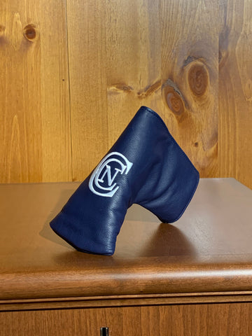 Winston Leather Blade Putter Cover- Navy