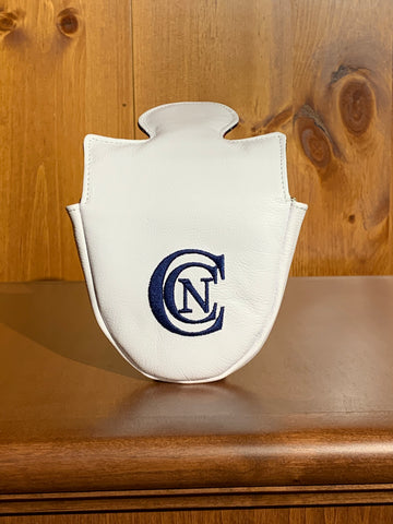 Winston Leather Mallet Putter Cover- White