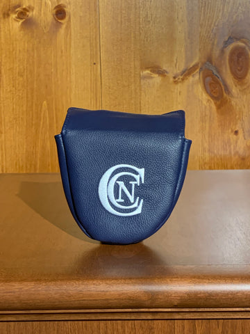 Winston Leather Mallet Putter Cover- Navy