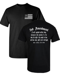 1791 2nd Amendment law t-shirt freedom t-shirt