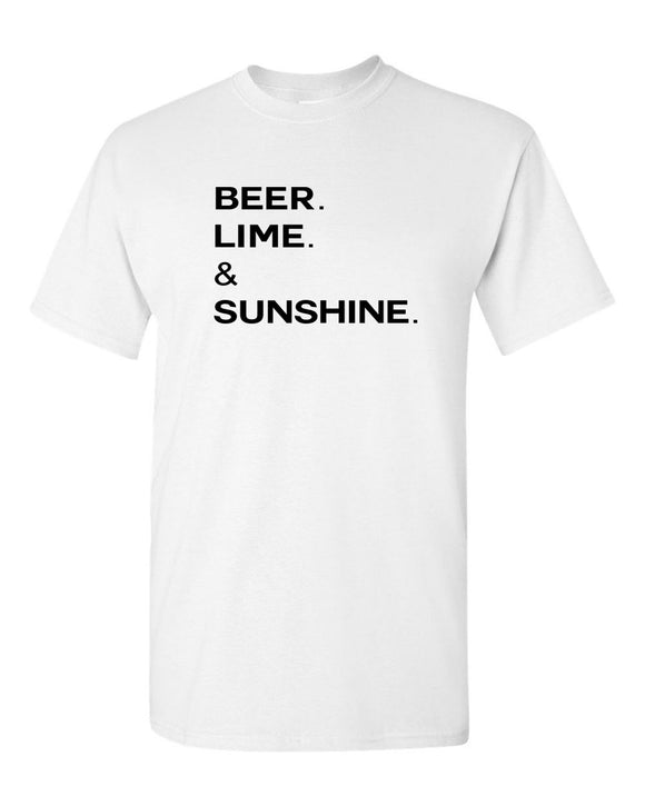 Beer Lime and Sunshine t-shirt drinking tees