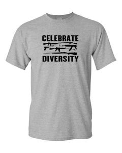Celebrate Diversity Funny Gun Rights T Shirt 2nd Amendment Hunting Tee