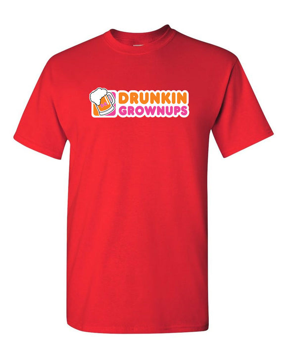 Drunkin' Grownups T-shirt beer t-shirt funny party tees
