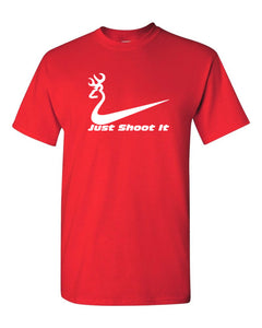 Just Shoot it Funny Deer Hunting T shirt