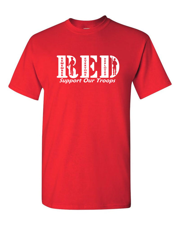 Remember Everyone Deployed T-shirt Red T-shirt 2nd Amendment tees