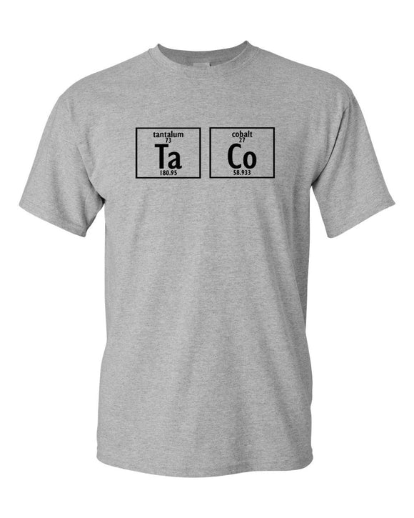 Science Taco T-SHIRT - Periodic Table Nerd Tacos College Chemistry