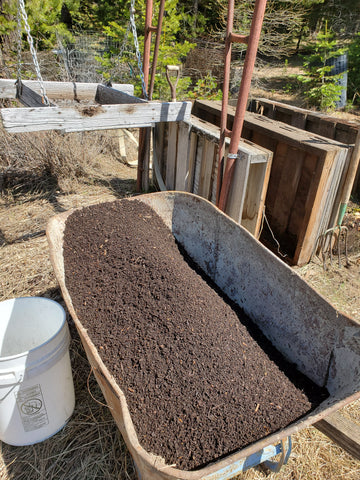 Dirt made from compost
