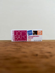 JÖR Artisan Cranberry Hemp Bar