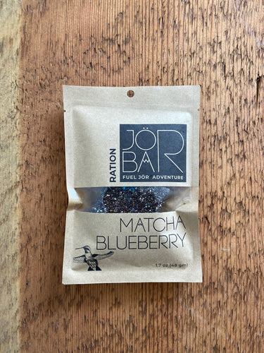 JÖR Matcha Blueberry Ration energy bar