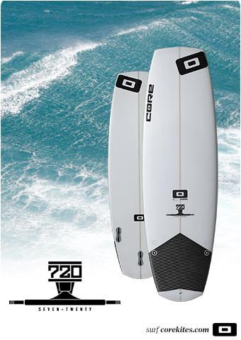 CORE 720 5'3 SURFBOARD COMPLETE WITH FCS ACCELERATOR NEO GLASS FINS