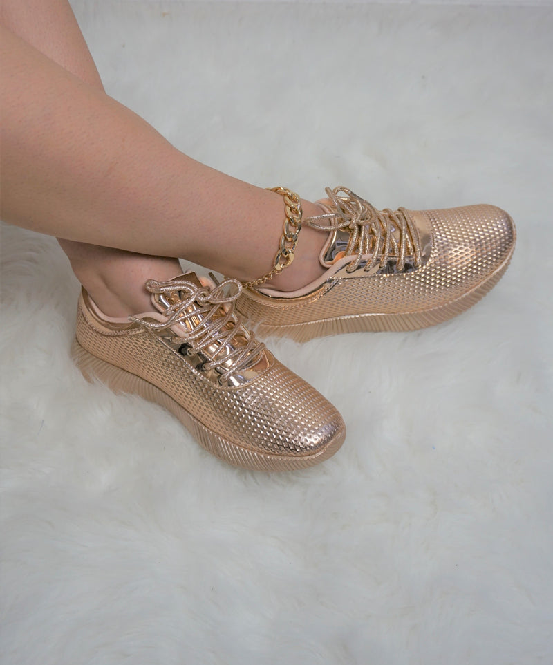 Money Chaser Rose Gold Shoes