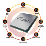 AMD Ryzen 3 3100 4 Cores 8 Threads 18MB Cache PCIe 4.0 7nm Desktop Processor with Max Boost of 3.9GHz and Wraith Stealth Cooler - Eshopping Mantra