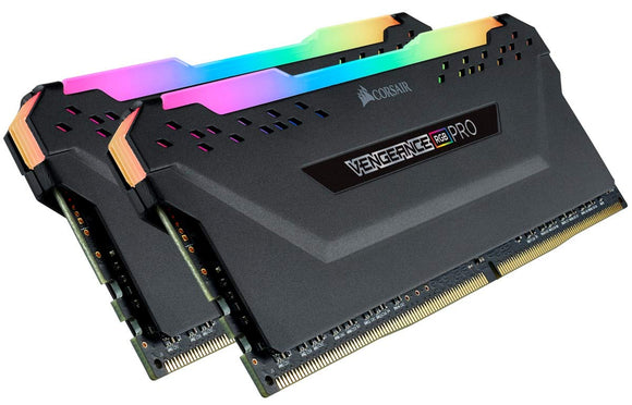 CORSAIR Vengeance RGB PRO 32GB (2x16GB) DDR4 3600 (PC4-28800) C18 AMD Optimized Memory – Black - Eshopping Mantra