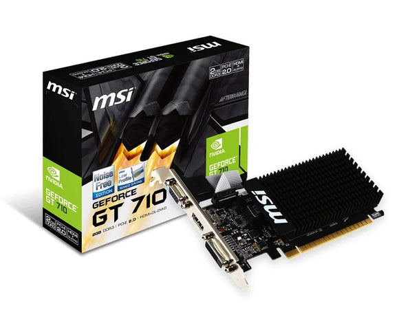 MSI GT 710 2GD3H LP DDR3 Gaming Graphic Card - Eshopping Mantra