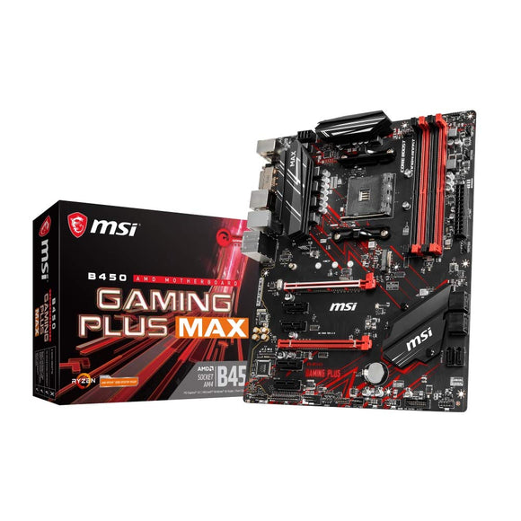 MSI B450 Gaming Plus MAX ATX Gaming Motherboard