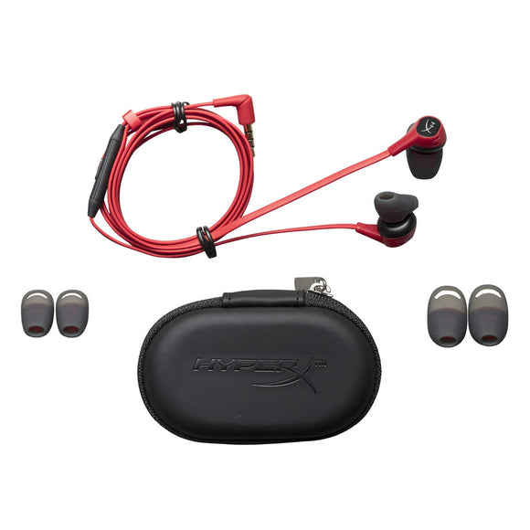 HyperX Cloud HX-HSCEB-RD Earbuds Gaming Headphones with Mic (Red) - Eshopping Mantra