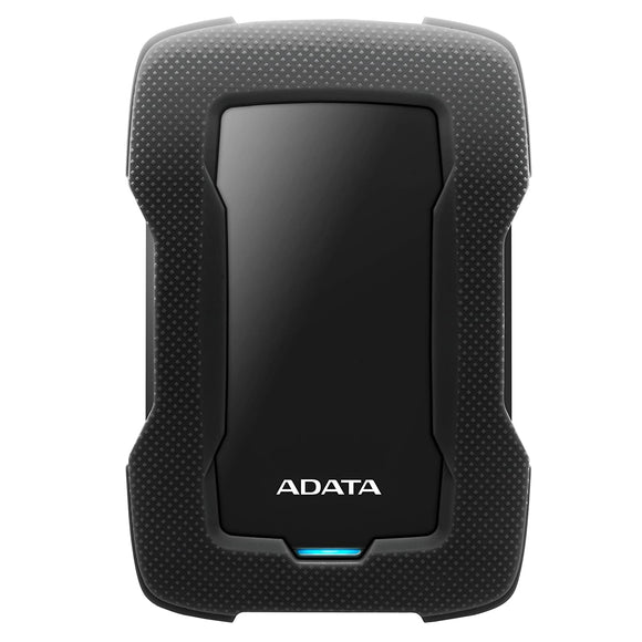 ADATA HD330 External Hard Drive with AES 256-bit encryption Dashingly Tough (1TB, Black)