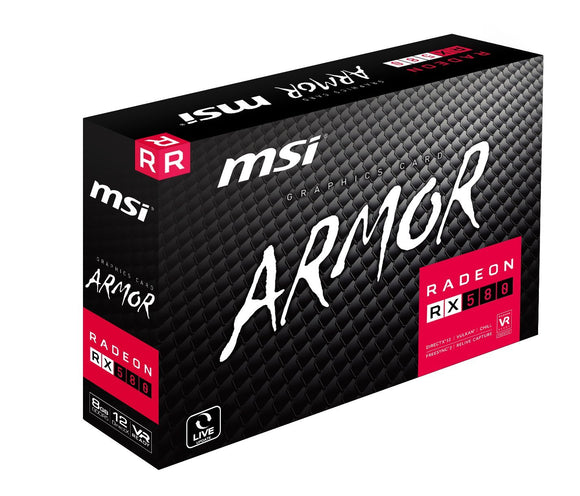 MSI Radeon RX 580 Armor OC 8GB VR Ready FinFET DirectX 12 Gaming Graphics Card
