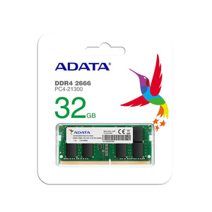 ADATA - Memory SO-DIMM 32 GB DDR4-2666 Laptop RAM AD4S2666732G19-RGN Premier - Eshopping Mantra