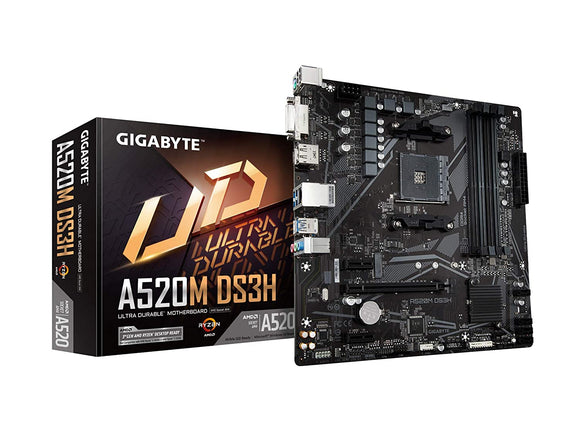 Gigabyte A520M DS3H (AMD Ryzen AM4) MOTHERBOARD